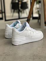 Кросівки Nike Air Force 1 White Shadow Найк Аір Форс 1 Білі (36,39,40), фото 2