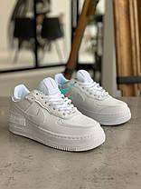 Кросівки Nike Air Force 1 White Shadow Найк Аір Форс 1 Білі (36,39,40), фото 3