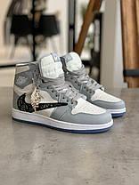 Кроссовки Nike Air Jordan х Dior Найк Аир Джордан x Диор  (37,38), фото 2