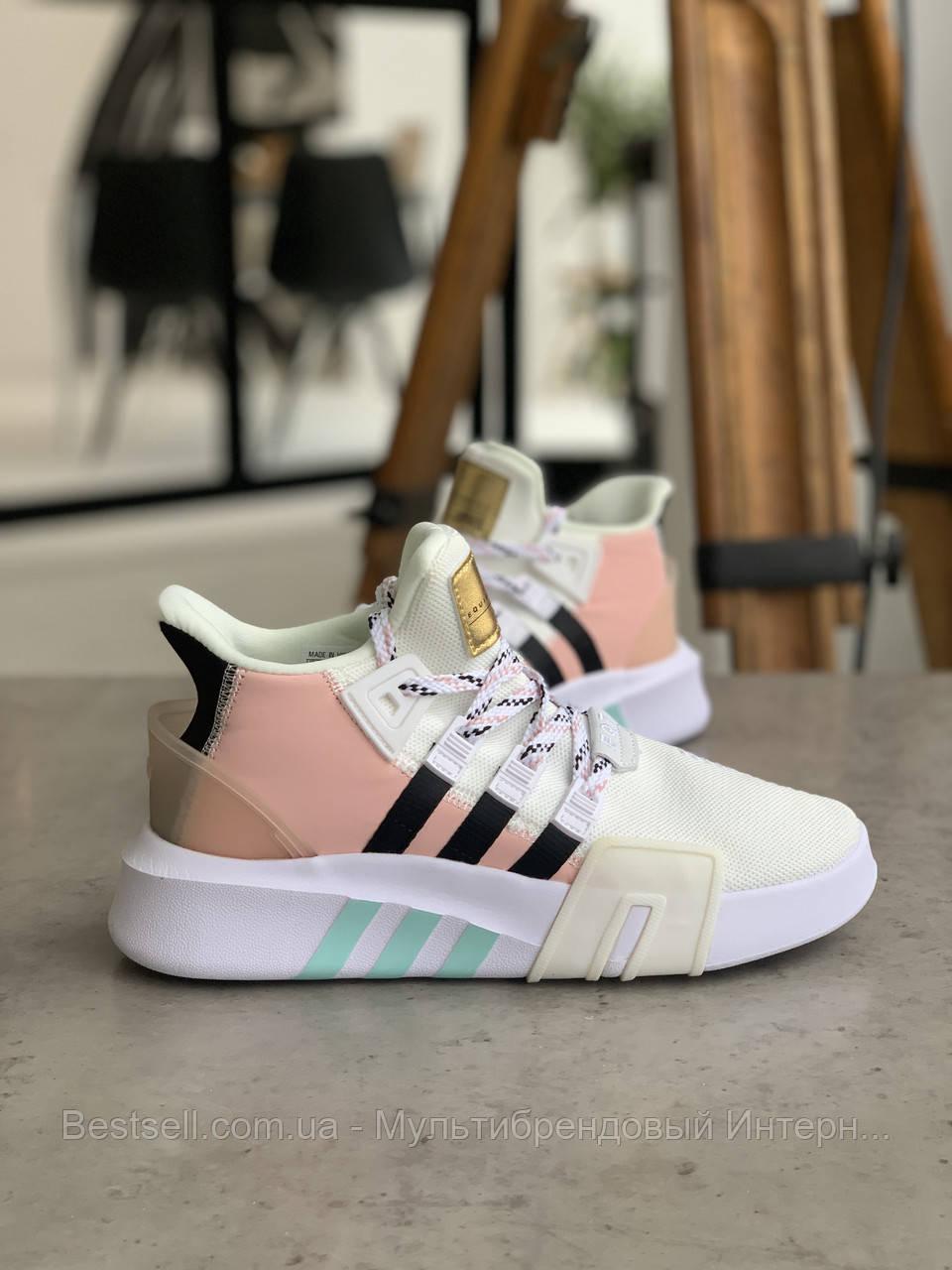 Кроссовки Adidas EQT Bask Adv White Адидас Ект Баск Белые [ 37,38 ]