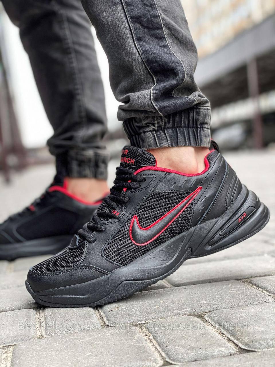 Кроссовки мужские 18511, Nike Air Monarch, черные, [ 42 43 44 45 46 ] р. 41-26,5см.