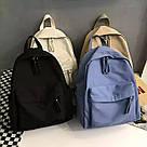 Рюкзак молодежный черный из плотного износостойкого холста., фото 3