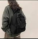 Рюкзак молодежный черный из плотного износостойкого холста., фото 5
