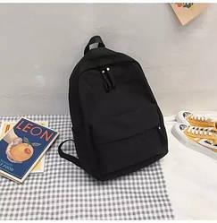 Рюкзак молодежный черный из плотного износостойкого холста.