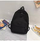 Рюкзак молодежный черный из плотного износостойкого холста., фото 2