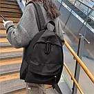 Рюкзак молодежный черный из плотного износостойкого холста., фото 6