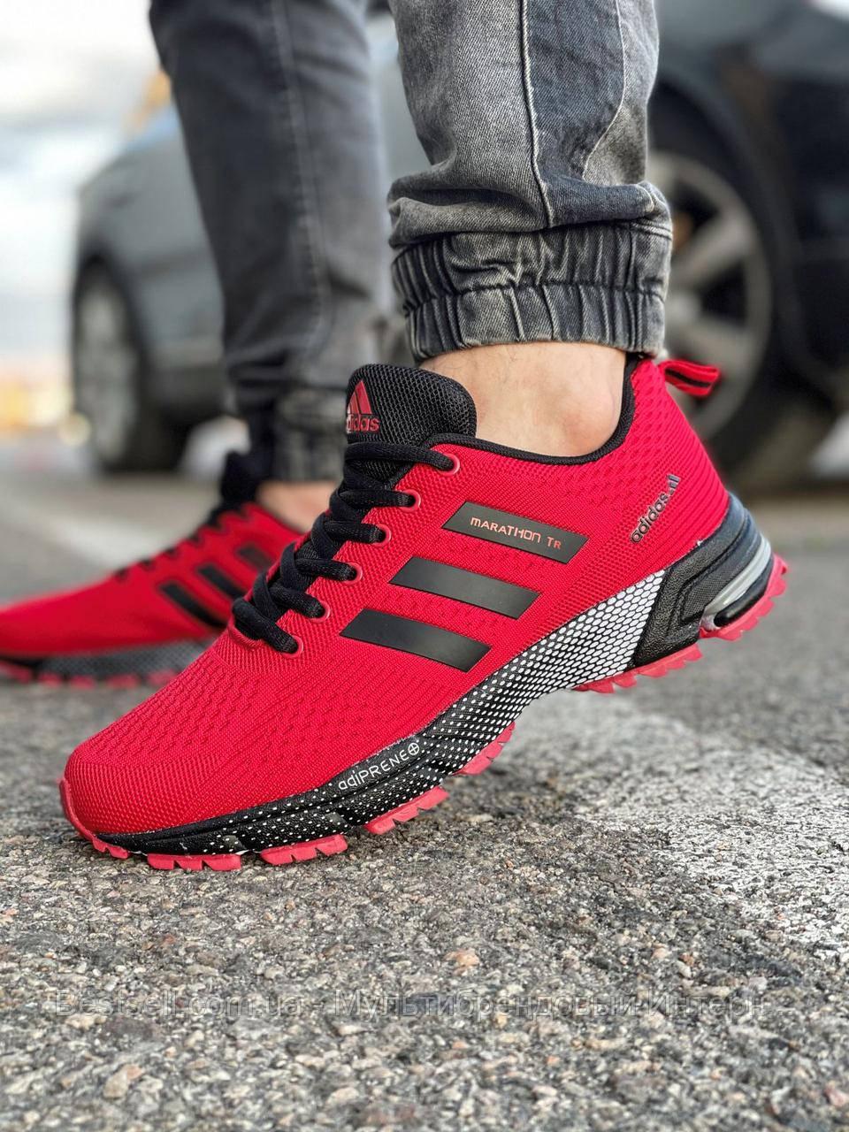Кроссовки мужские 18531, Adidas Marathon Tr, красные, [ 43 ] р. 41-26,8см.
