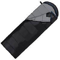 Спальный мешок (спальник) одеяло SportVida SV-CC0072 -3 ...+ 21°C R Black/Grey