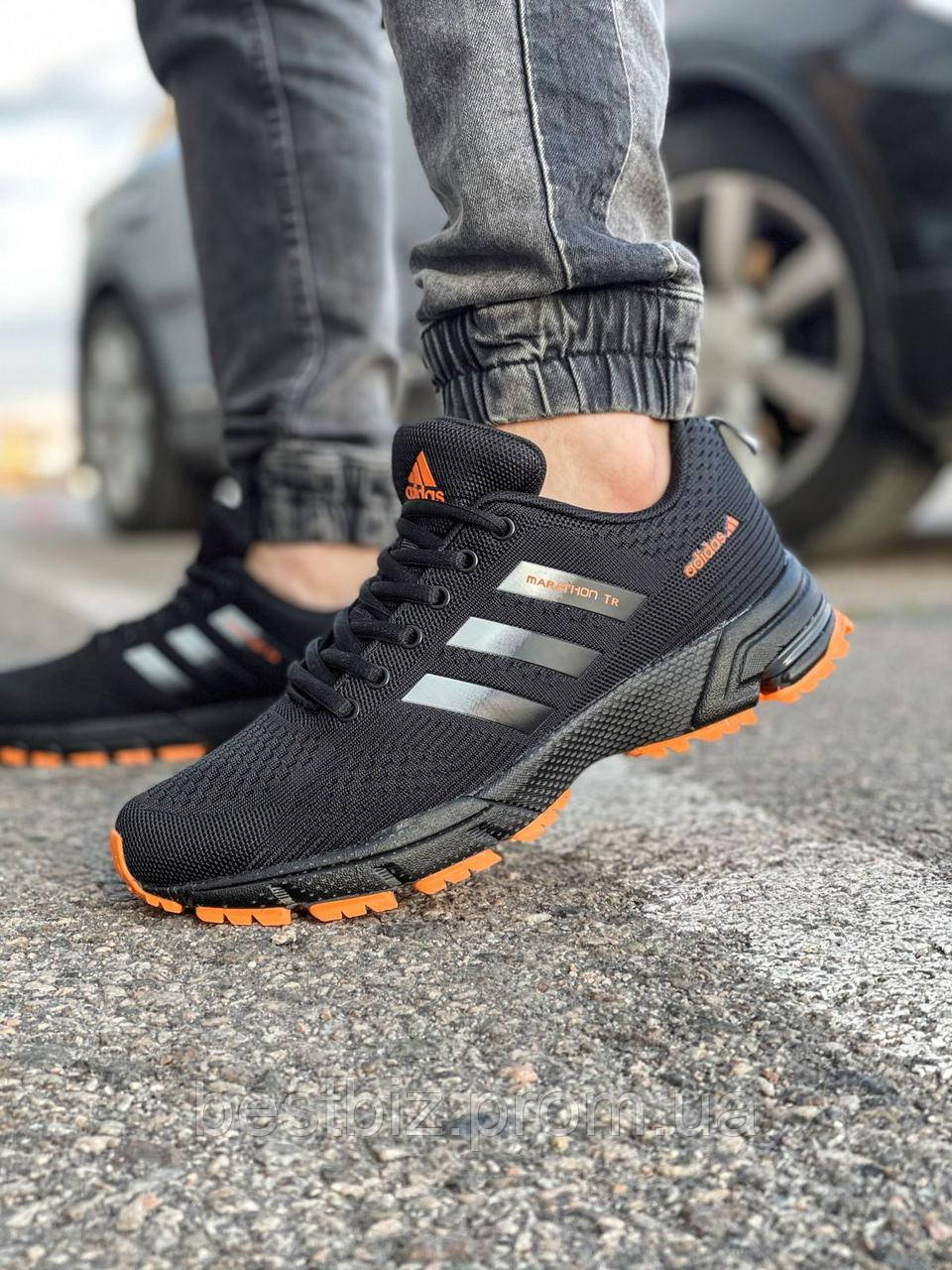 Кроссовки мужские 18533, Adidas Marathon Tr, черные, [ 42 43 44 45 ] р. 41-26,8см.
