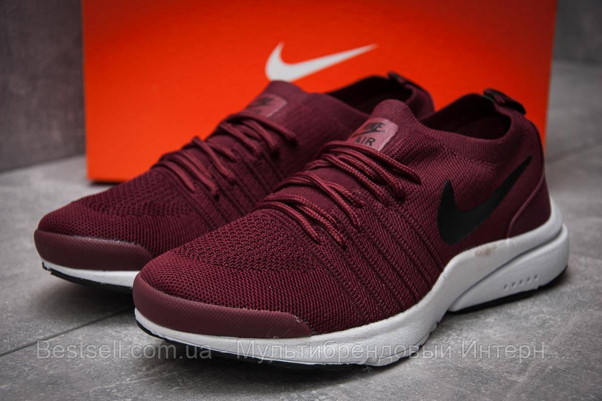 Кроссовки мужские 12552, Nike Air, бордовые, [ нет в наличии ] р. 41-25,9см.