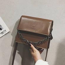 Женская классическая сумочка через плечо на ремешке DX светло коричневая