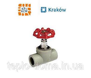 Кран вентильный для горячей воды D25