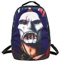 Рюкзак большой школьный портфель с принтом Маска мужской женский