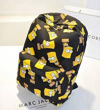Рюкзак школьный портфель Барт Симпсон Bart Simpson черный