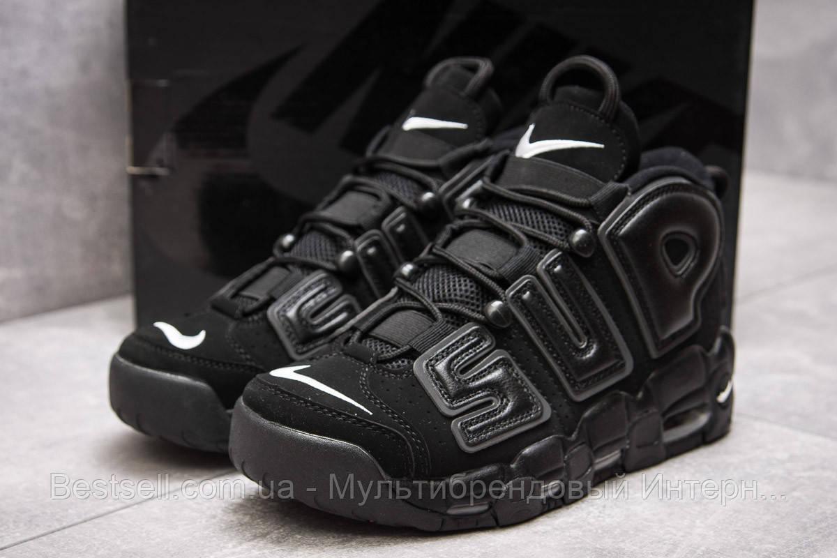 Кроссовки мужские 13915, Nike More Uptempo, черные, [ нет в наличии ] р. 44-28,1см.