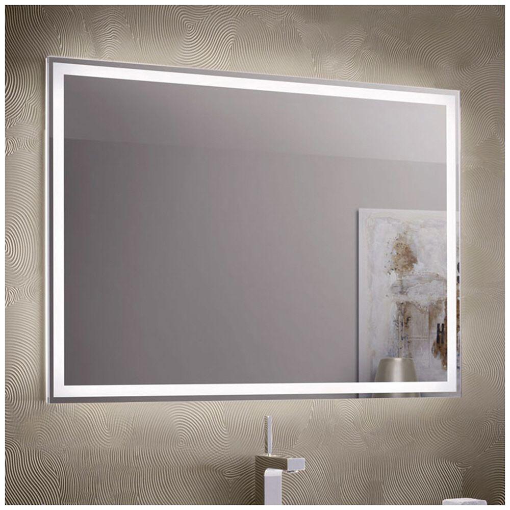 Зеркало с LED подсветкой 100х80 настенное ( для ванной комнаты)