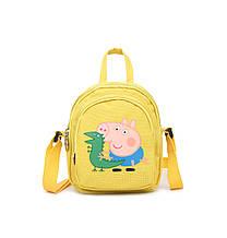 Женский маленький рюкзак Свинка Пеппа желтый