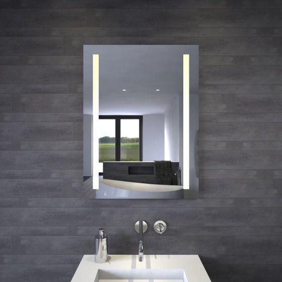 Зеркало с LED подсветкой 80х60 настенное ( для ванной комнаты)