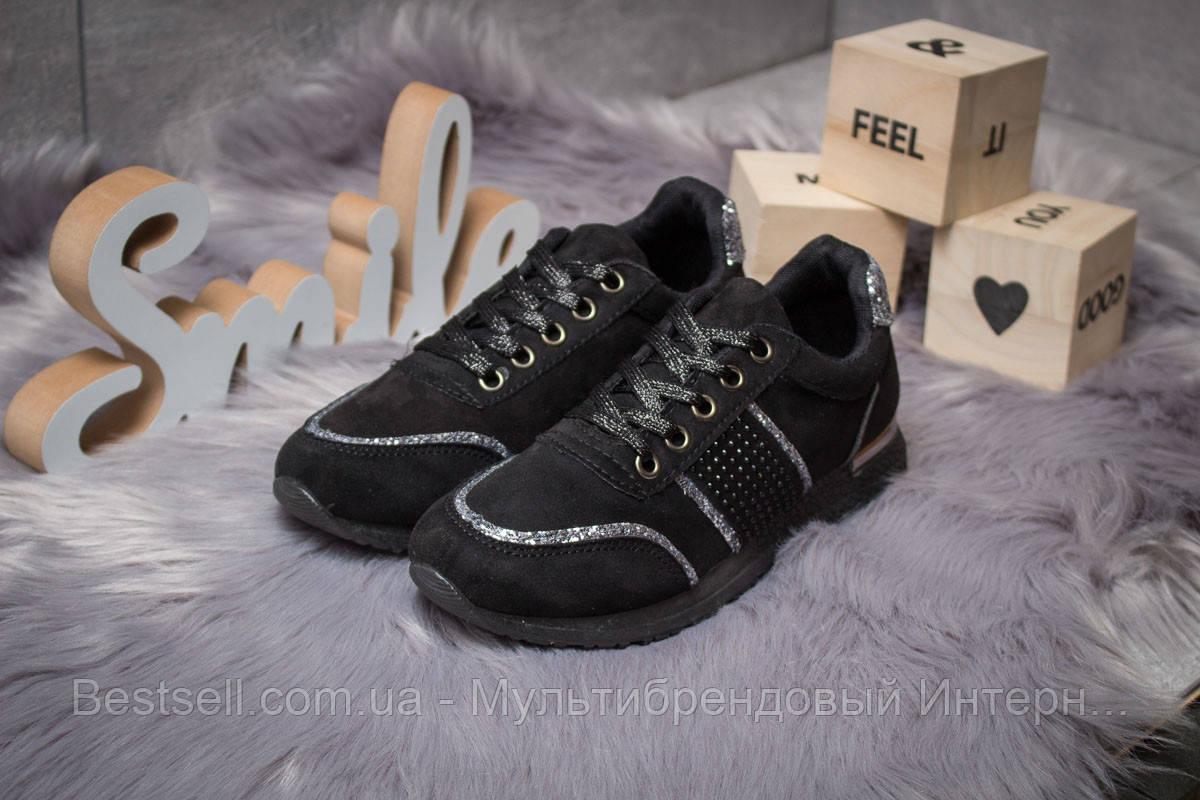 Кроссовки женские 14281, Ideal Black, черные, [ 36 38 ] р. 36-22,8см.