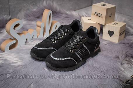 Кросівки жіночі 14281, Ideal Black, чорні, [ 36 38 ] р. 36-22,8 див., фото 2
