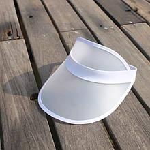 Женский пластиковый прозрачный козырёк Белый
