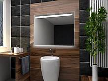 Зеркало с LED подсветкой 90х70 настенное ( для ванной комнаты)
