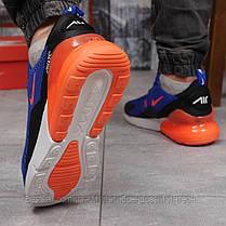 Кроссовки мужские 14833, Nike Air 270, синие, [ 44 ] р. 43-27,7см., фото 3