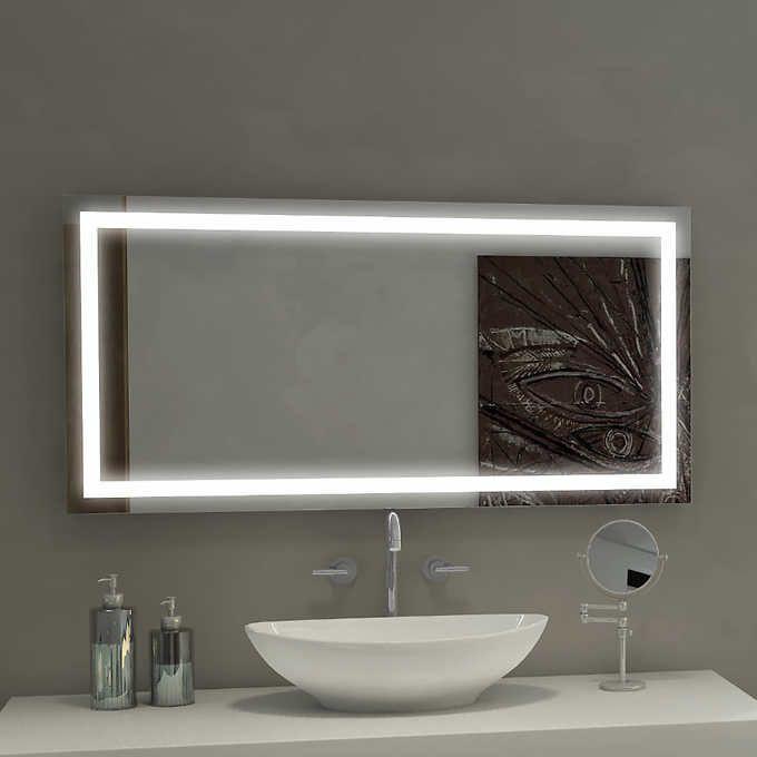 Зеркало с LED подсветкой 150х70 настенное ( для ванной комнаты)