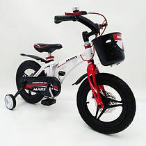 Детский двухколесный велосипед рама сплав Магнезия и Алюминия   (от 5 лет) на 16 дюймов  MARS