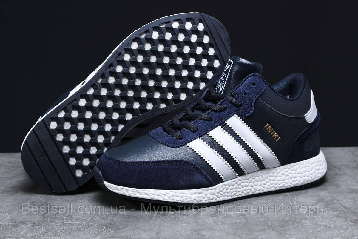 Зимние мужские кроссовки 31281, Adidas Iniki, темно-синие, [ нет в наличии ] р. 44-28,0см.