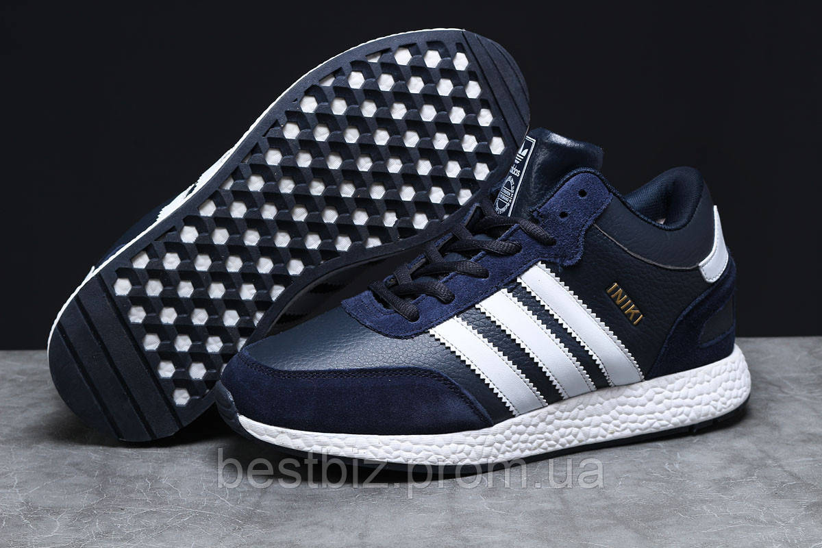 Зимові чоловічі кросівки 31281, Adidas Iniki, темно-сині, [ немає ] р. 44-28,0 див.