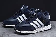 Зимние мужские кроссовки 31281, Adidas Iniki, темно-синие, [ нет в наличии ] р. 44-28,0см., фото 2