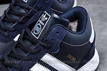 Зимние мужские кроссовки 31281, Adidas Iniki, темно-синие, [ нет в наличии ] р. 44-28,0см., фото 3