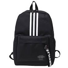 Рюкзак большой TRAVEL мужской женский школьный портфель черный