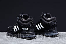 Зимние мужские кроссовки 31365, Adidas ZX 750 (мех), черные, [ нет в наличии ] р. 41-26,5см., фото 3