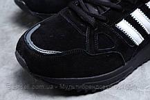 Зимние мужские кроссовки 31365, Adidas ZX 750 (мех), черные, [ нет в наличии ] р. 41-26,5см., фото 2