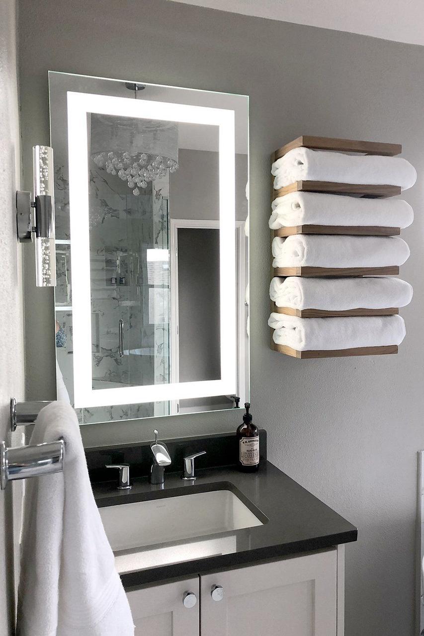 Зеркало с LED подсветкой 60х40 настенное ( для ванной комнаты)