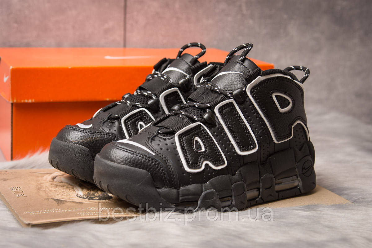 Кроссовки женские 15242, Nike Air Uptempo, черные, [ 41 ] р. 41-26,4см.