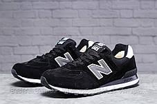 Зимові чоловічі кросівки 31395, New Balance 574 (хутро), чорні, [ немає ] р. 46-29,8 див., фото 2
