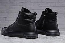 Зимние мужские ботинки 31511, Philipp Plein (мех), черные, [ нет в наличии ] р. 40-26,5см., фото 3