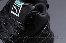 Зимние мужские кроссовки 31531, Puma (мех), черные, [ нет в наличии ] р. 41-26,0см., фото 3