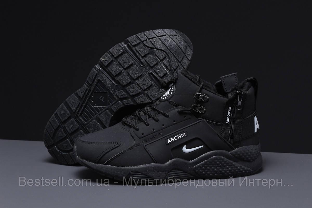 Зимние мужские кроссовки 31542, Nike Arcnm (мех), черные, [ нет в наличии ] р. 44-28,3см.