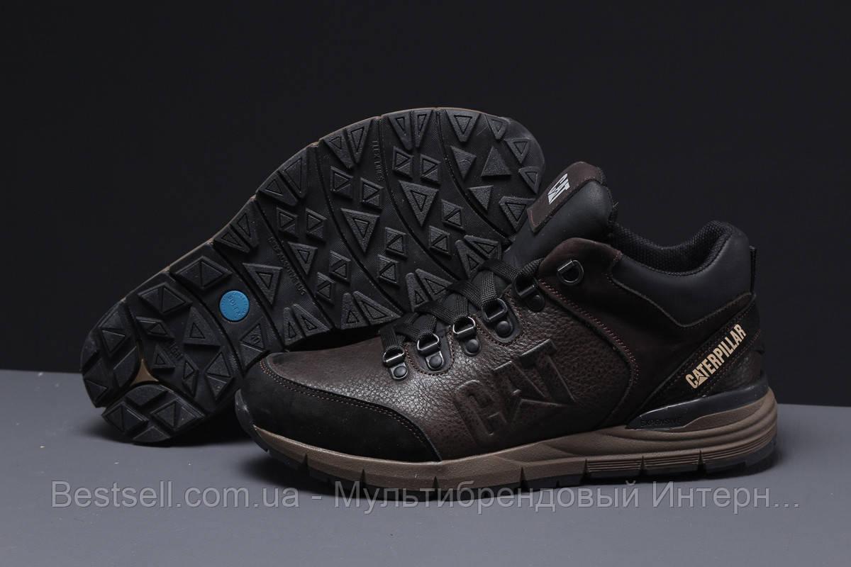 Зимние мужские кроссовки 31571, CAT Caterpilar Expensive (мех), коричневые, [ нет в наличии ] р. 41-26,5см.