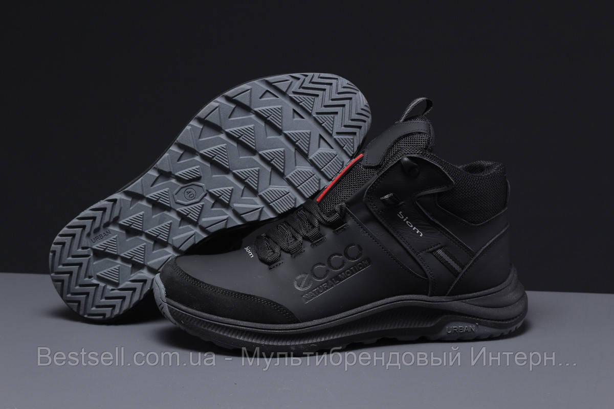 Зимние мужские кроссовки 31582, Ecco Biom (мех), черные, [ нет в наличии ] р. 40-26,5см.
