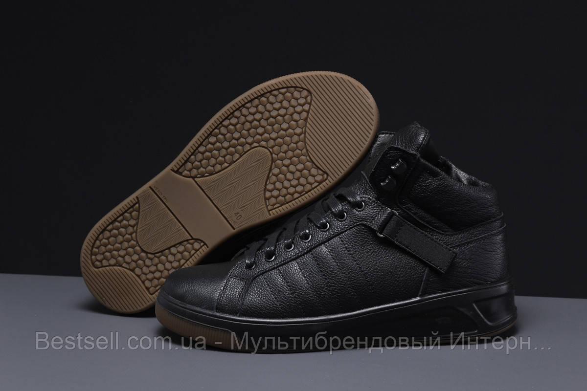 Зимние мужские кроссовки 31601, SSS Shoes Underground (мех), черные, [ нет в наличии ] р. 43-29,0см.