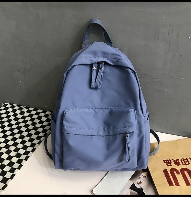 Рюкзак молодежный синий из плотного износостойкого холста.