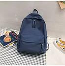 Рюкзак молодежный синий из плотного износостойкого холста., фото 4