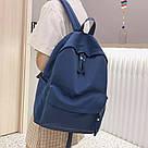 Рюкзак молодежный синий из плотного износостойкого холста., фото 6