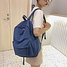 Рюкзак молодежный синий из плотного износостойкого холста., фото 7