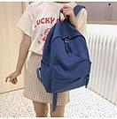 Рюкзак молодежный синий из плотного износостойкого холста., фото 8